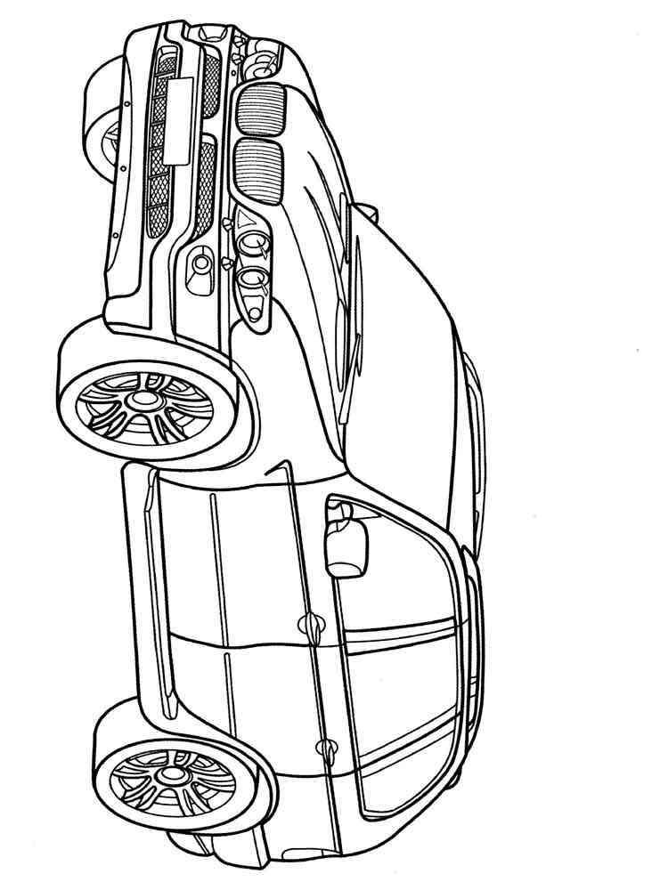 Раскраски БМВ - распечатать в формате А4
