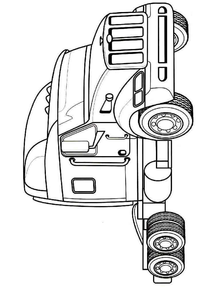 раскраски грузовики скачать и распечатать раскраски грузовики