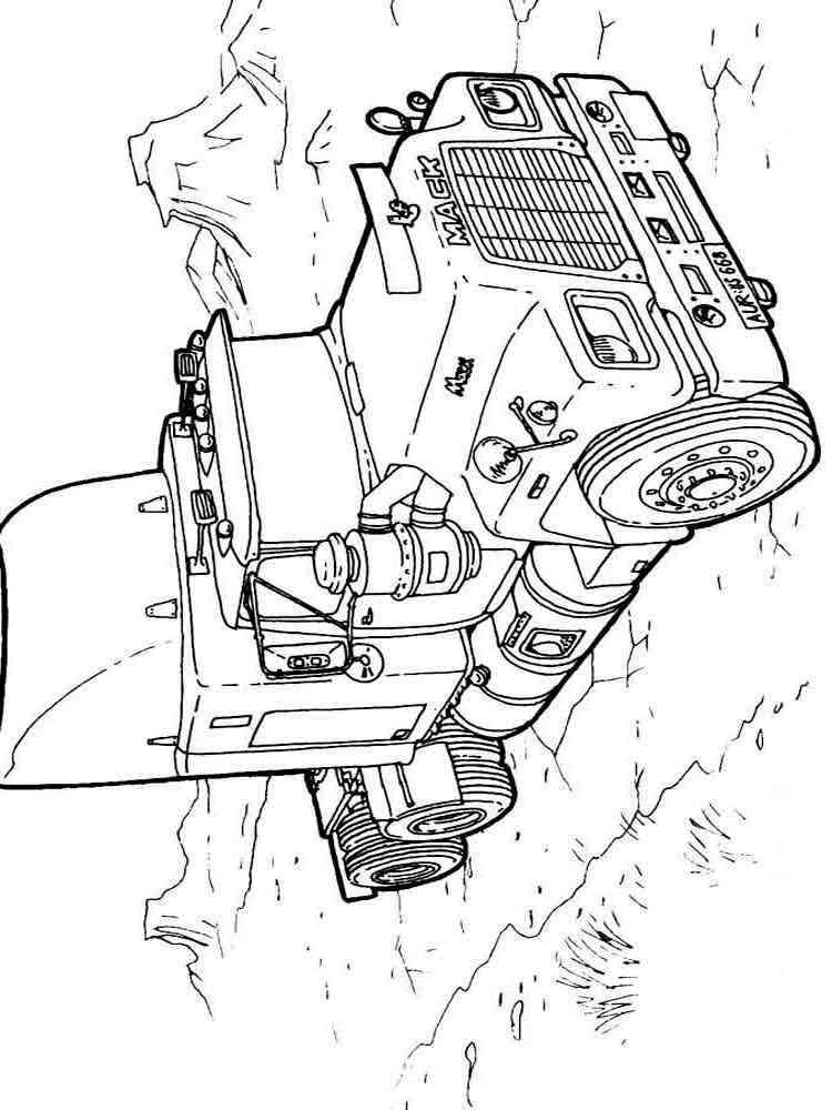 Раскраски Грузовики - распечатать в формате А4