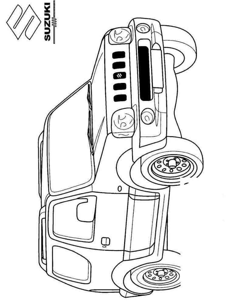 Раскраски машинки джипы