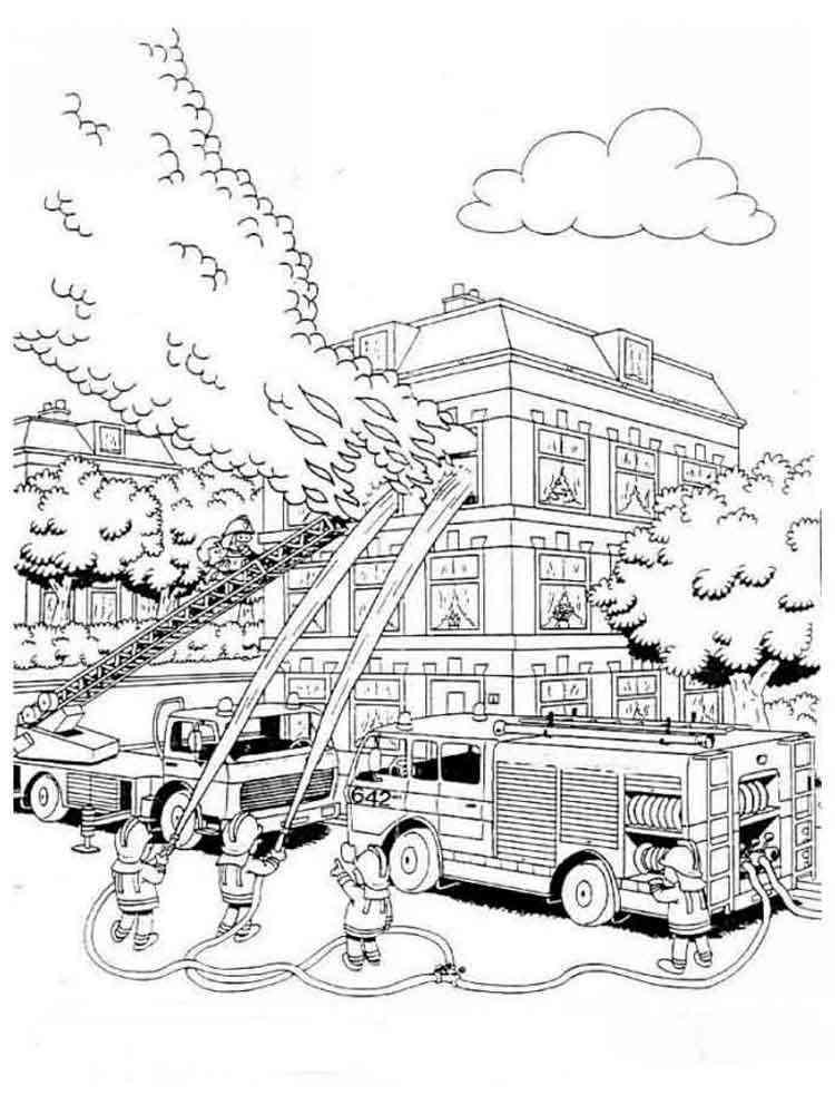 оградок картинки раскраски пожар если