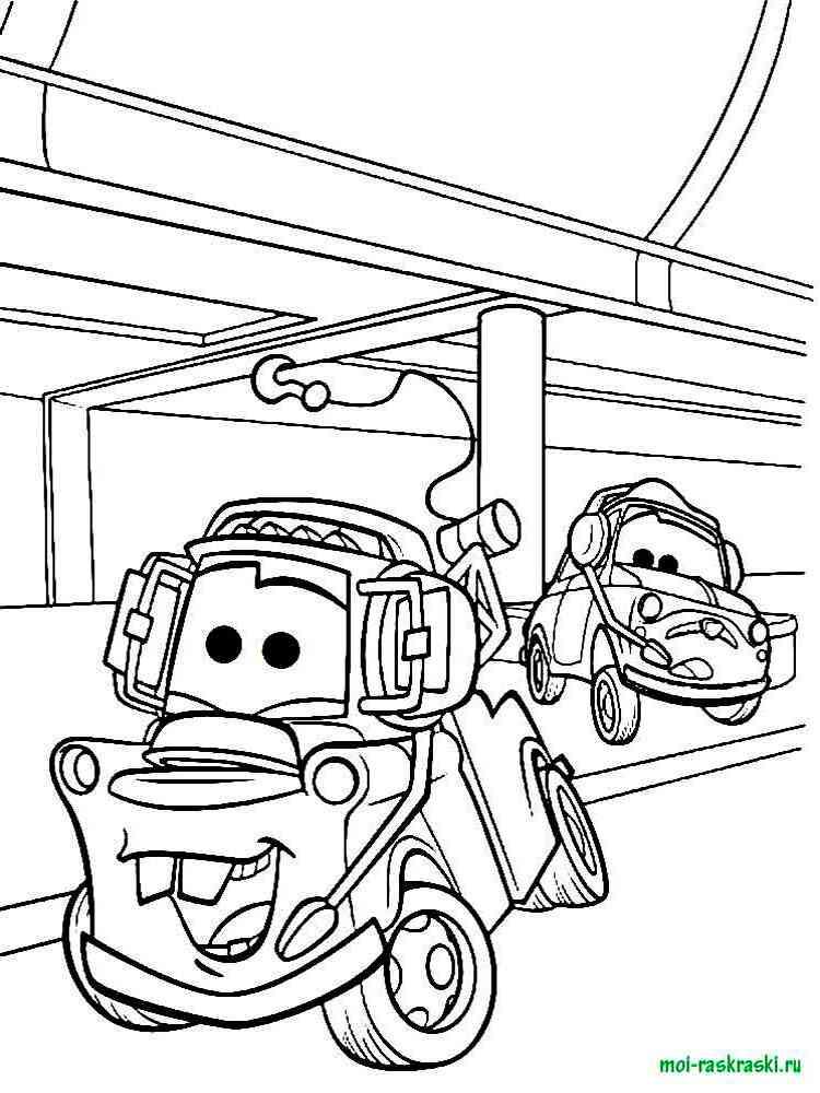 Игры раскраски для мальчиков машины тачки