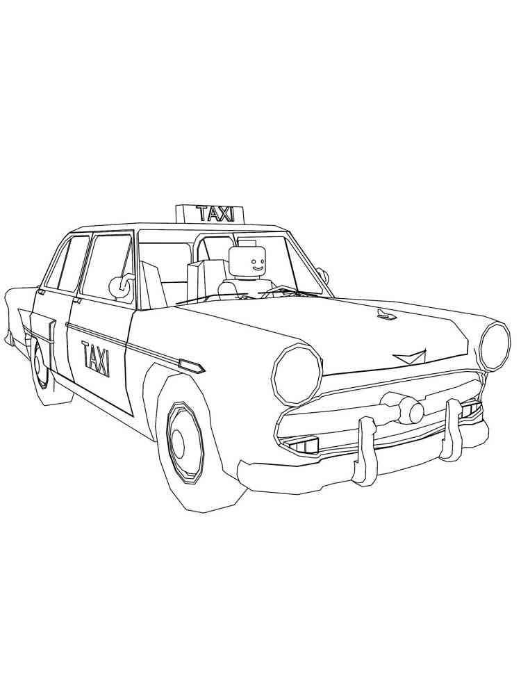 раскраска такси мира фото сплав