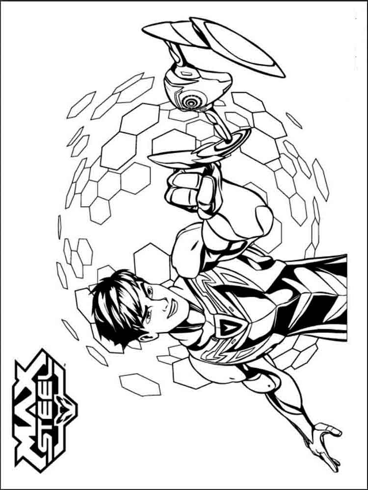 max steel coloring pages - max steel