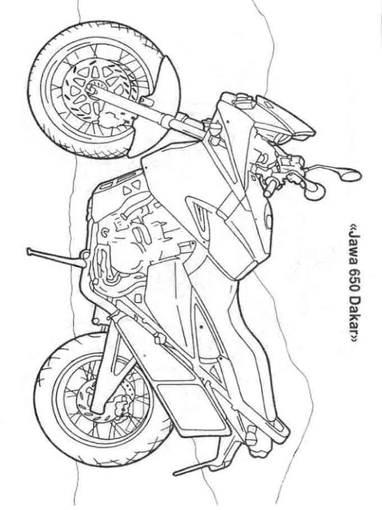 Раскраски для мальчиков мотоциклы распечатать - 8