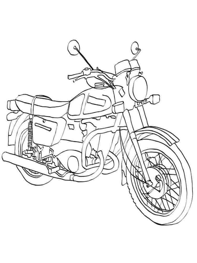 Раскраски мотоцикл юпитер
