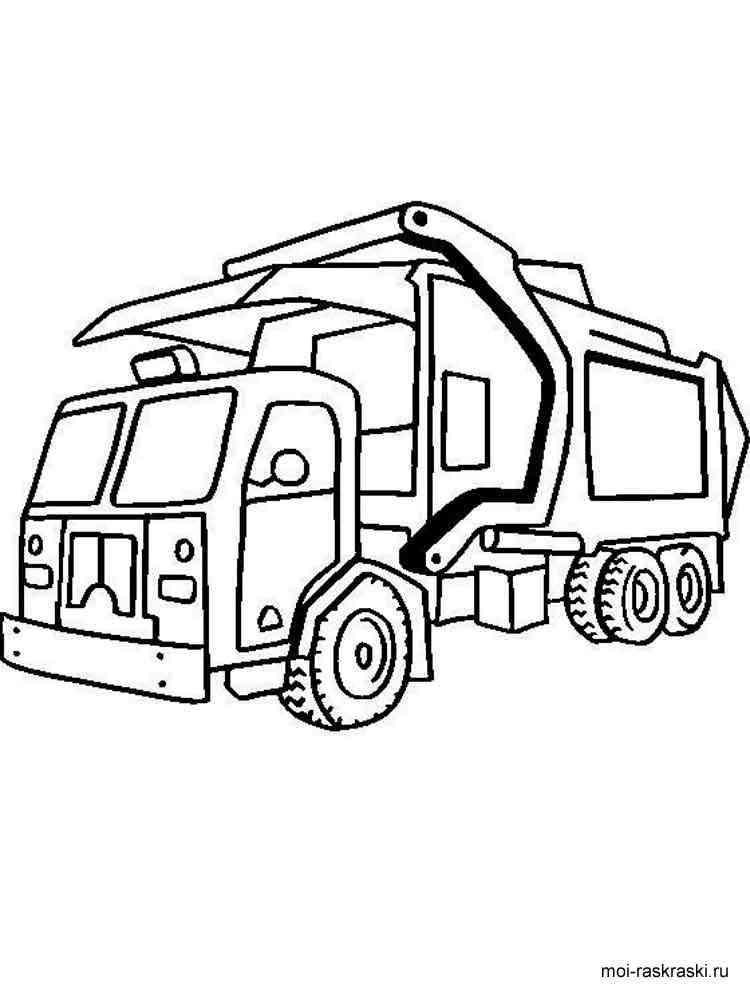 раскраска мусоровоз скачать и распечатать раскраски мусоровоз