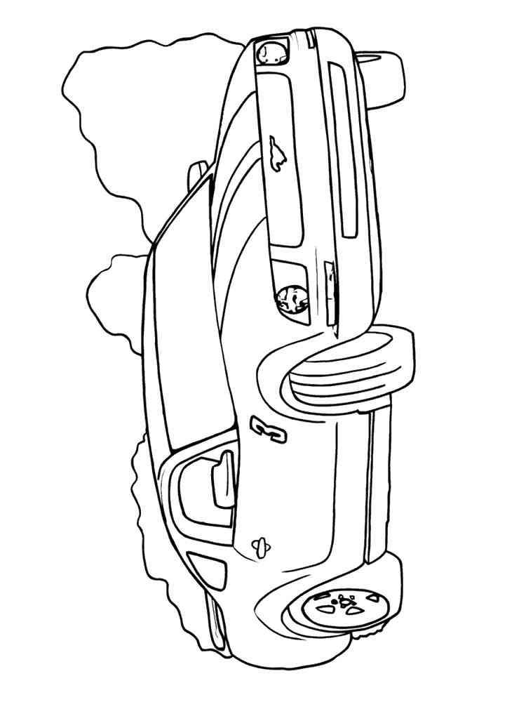 Raskraski Mustang Raspechatat V Formate A4
