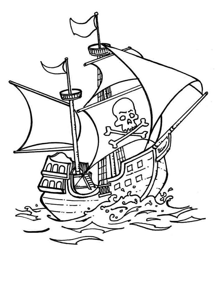 Pirate ship drawing kids