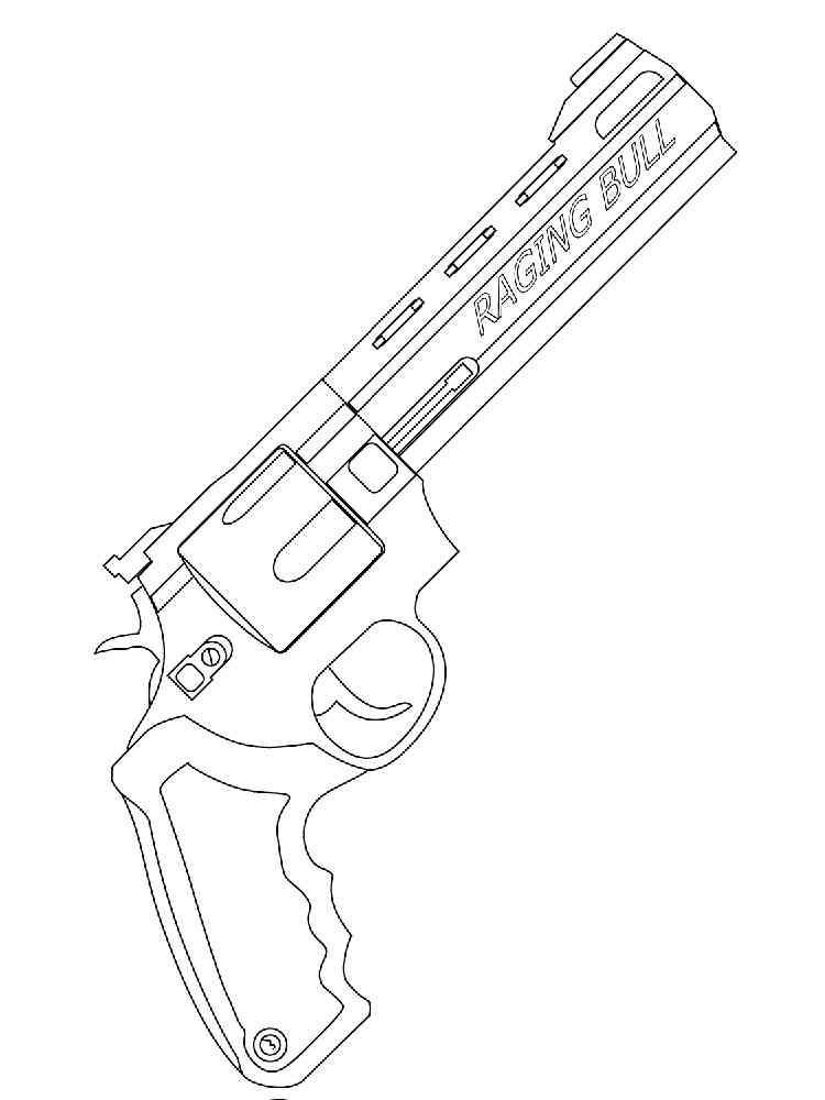 Ружье раскраска шаблон