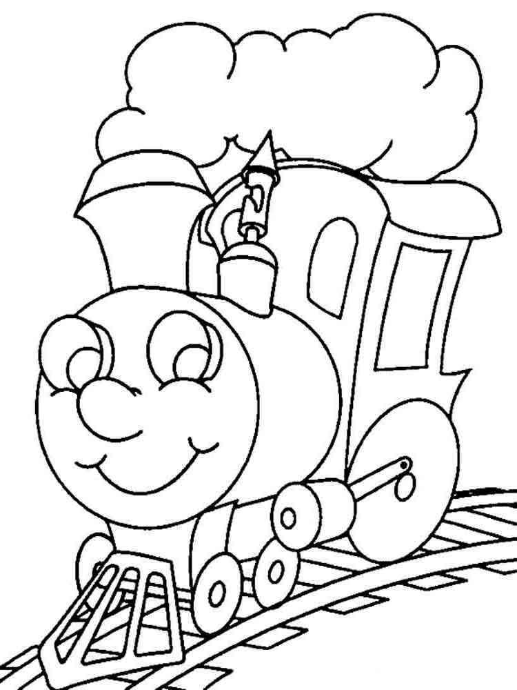 Картинка Поезд Для Детей Раскраска