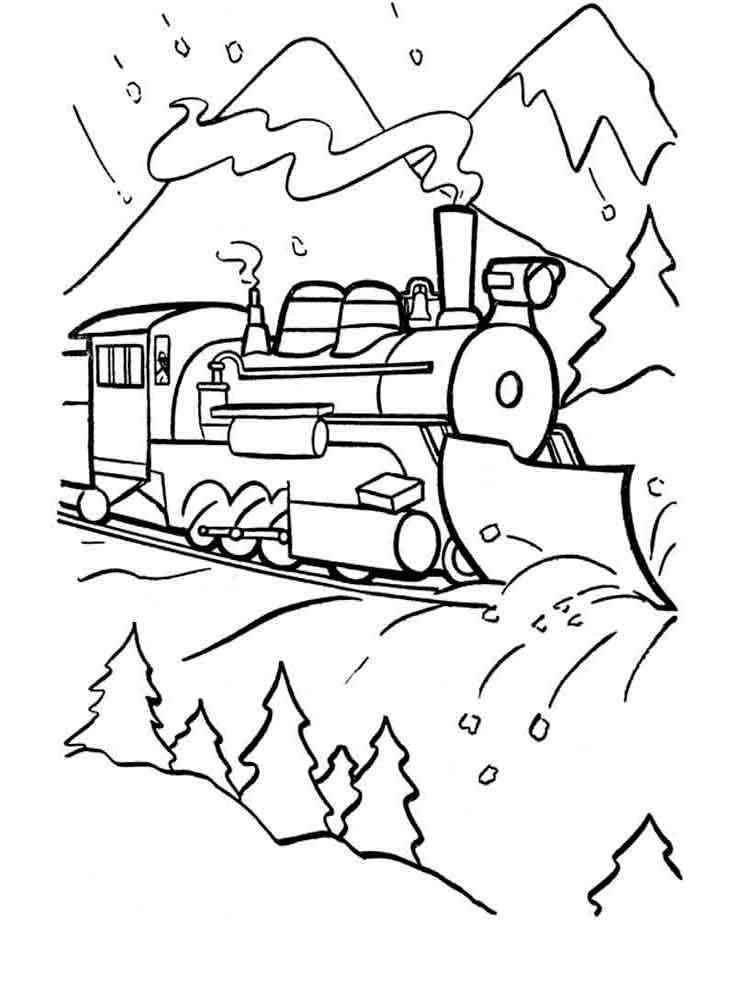 Раскраска поезда для детей