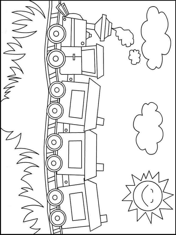 Вагончики для паровозика раскраска