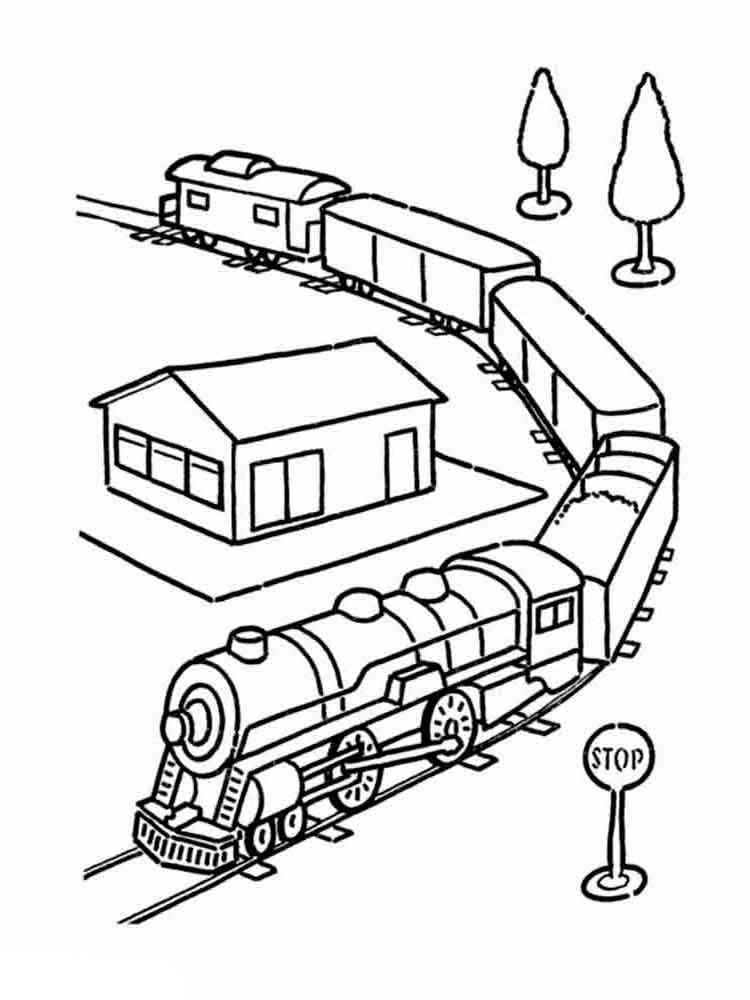Игры поезд раскраски