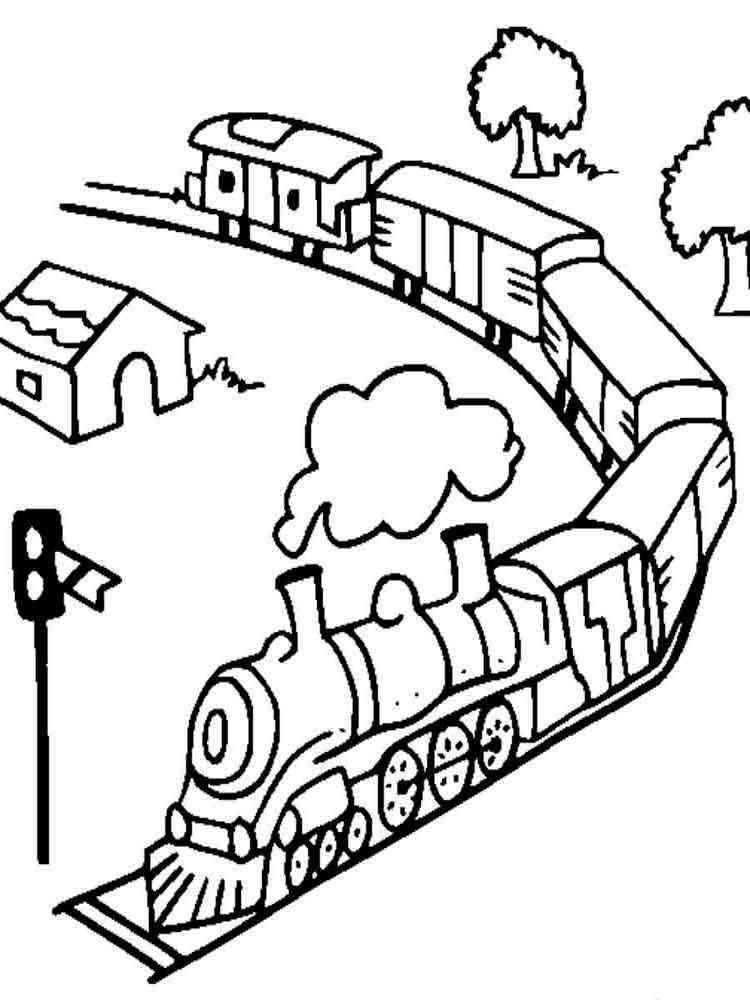 Картинка едет поезд для детей