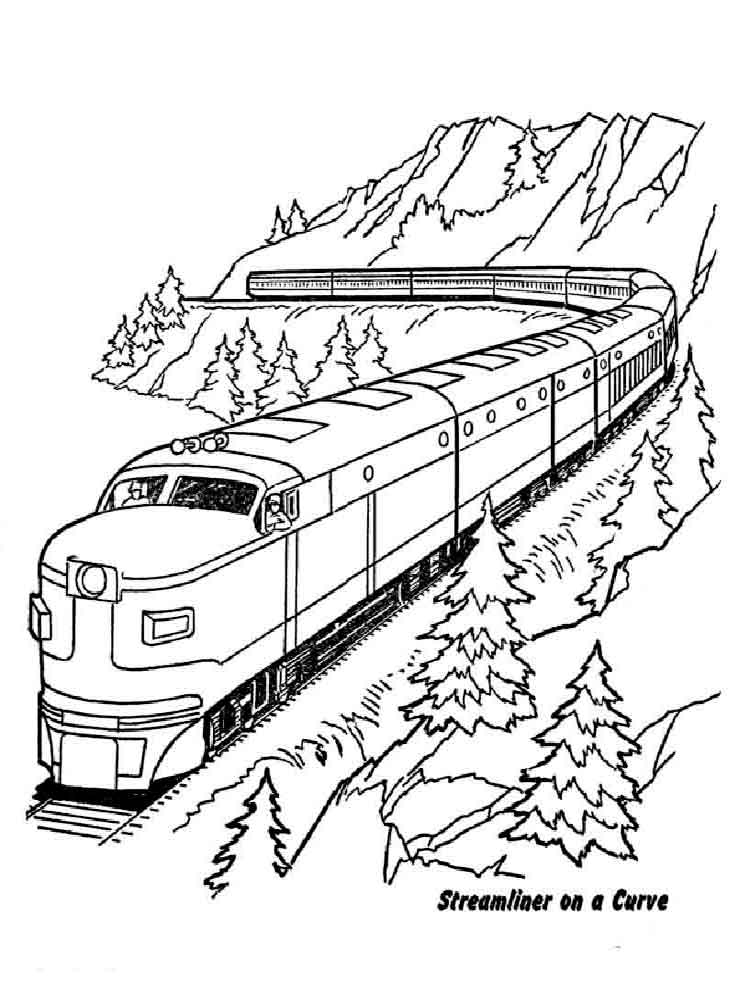 Train conductor free colouring pages for Coloring page of a train