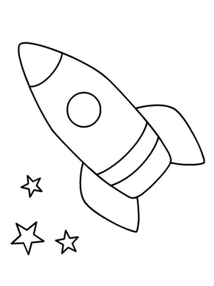 Раскраска ракета