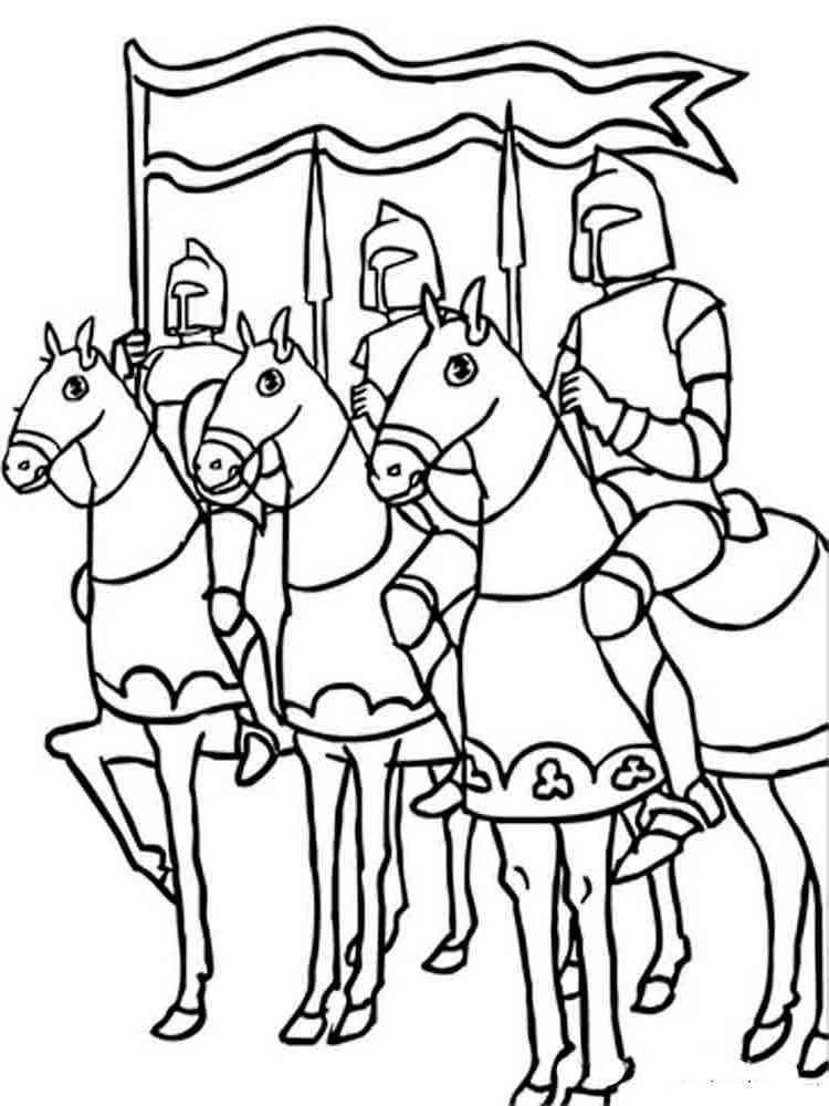 Игры раскраски рыцари