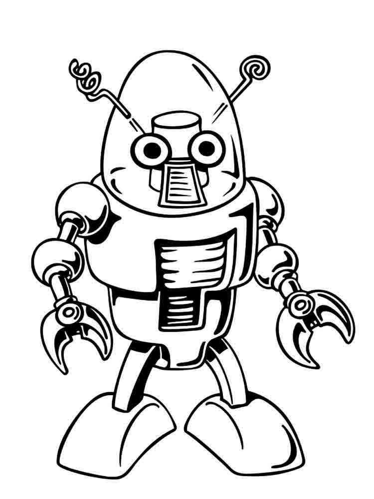 Раскраски Роботы - распечатать в формате А4
