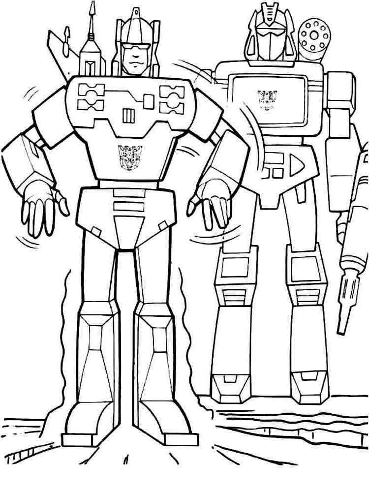 картинки раскраски роботы для детей