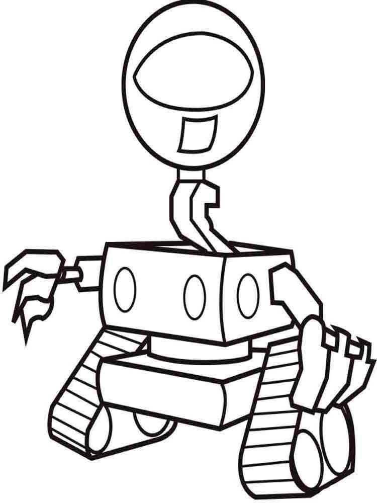 Скачать раскраски роботов