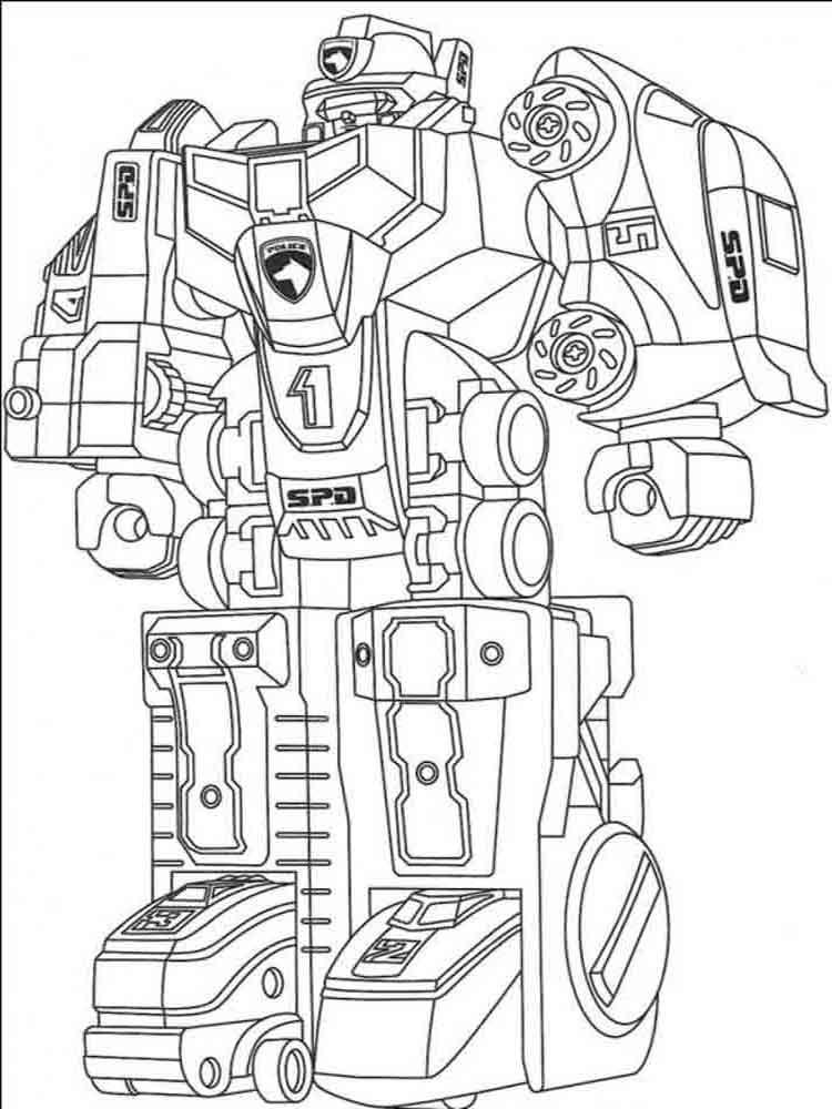 Раскраски для детей роботов