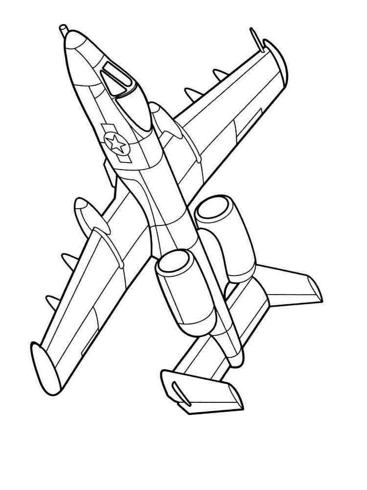 Раскраски Самолеты - распечатать в формате А4