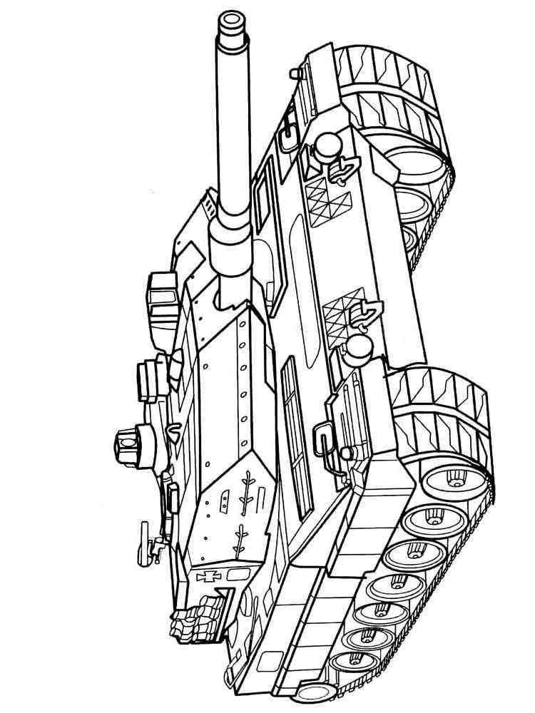 Разукрашки танк распечатать