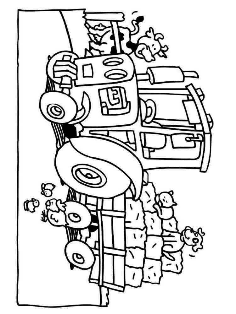 Трактор раскраска - 5