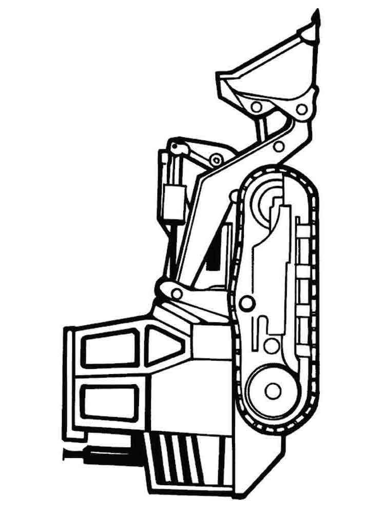 Раскраски для мальчиков трактора распечатать - 1