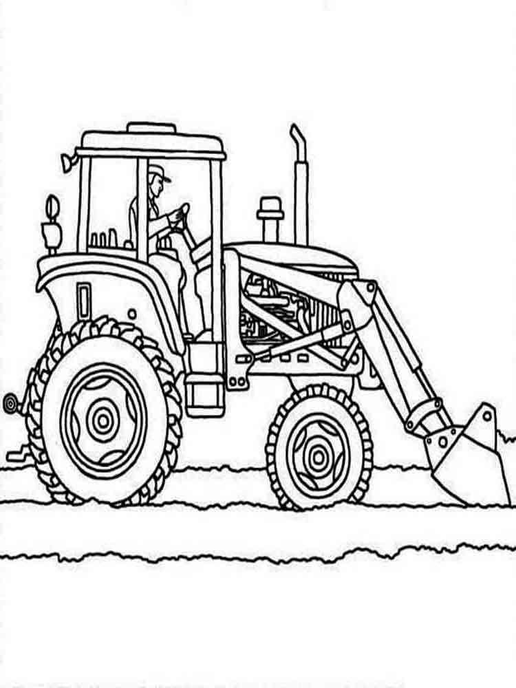 Раскраски для детей трактора - 9