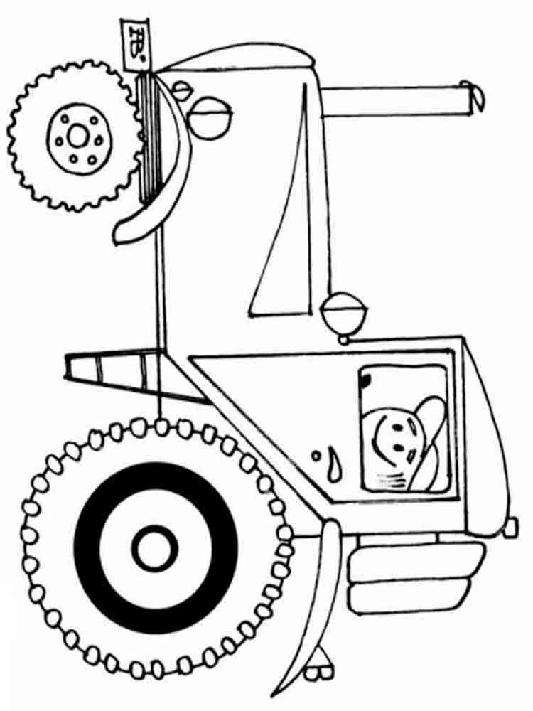 Трактор раскраска для малышей - 2
