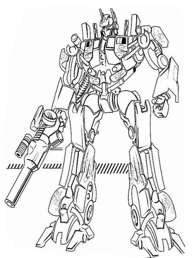 раскраски трансформеры Transformers скачать и распечатать