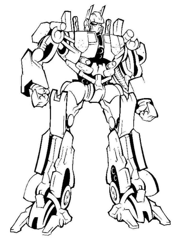 Раскраски роботов автоботов