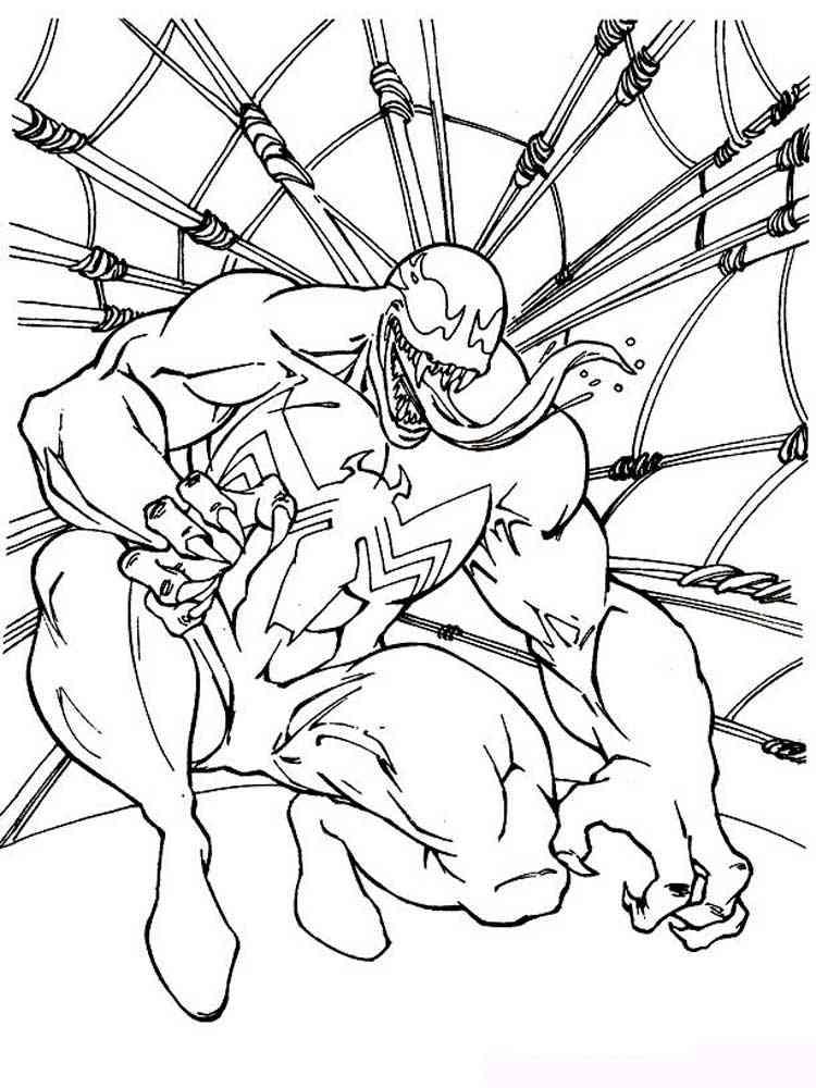 Раскраски Веном - распечатать в формате А4