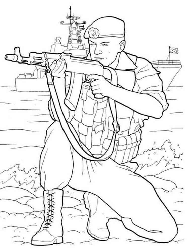 Раскраски Военные - распечатать в формате А4