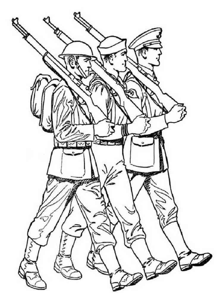 Картинки военных для раскрашивания