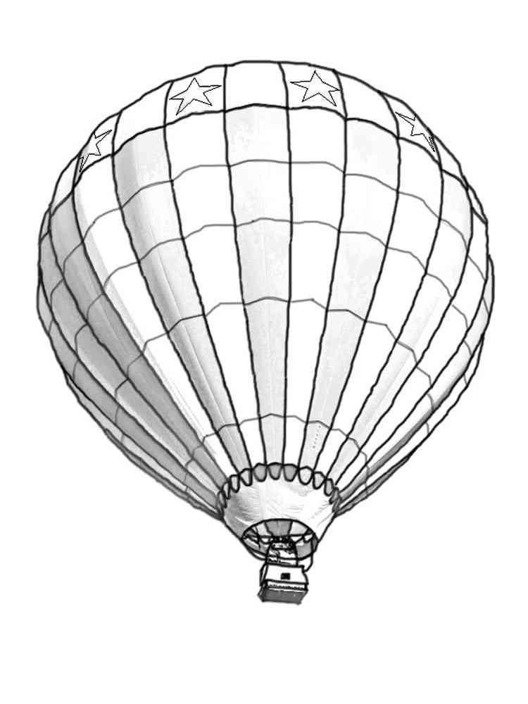 цвет картинки раскраски воздушный шар с корзиной дату