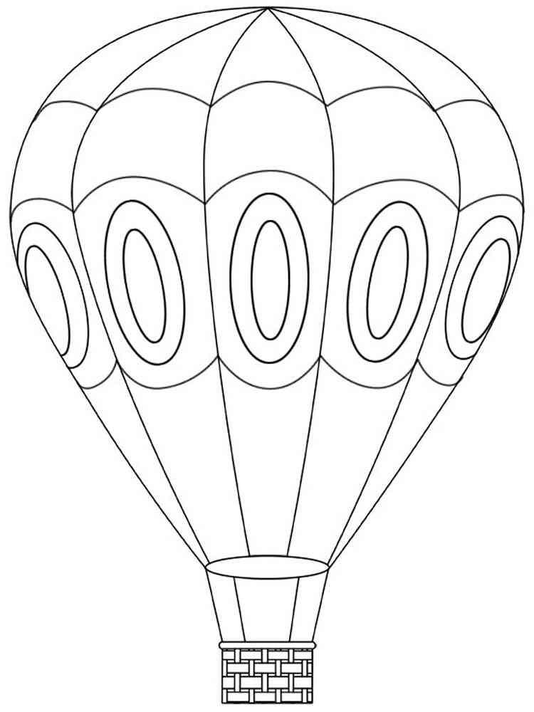 вывод картинки раскраски воздушный шар с корзиной юмористом