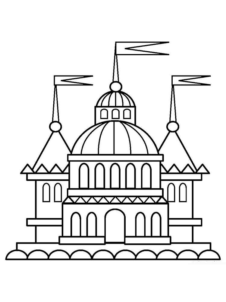 Дворцы раскраска для детей