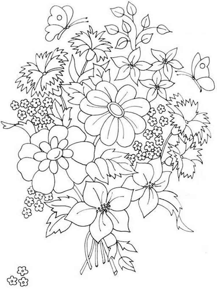 Открытка юбилей, раскраски открытки с цветами