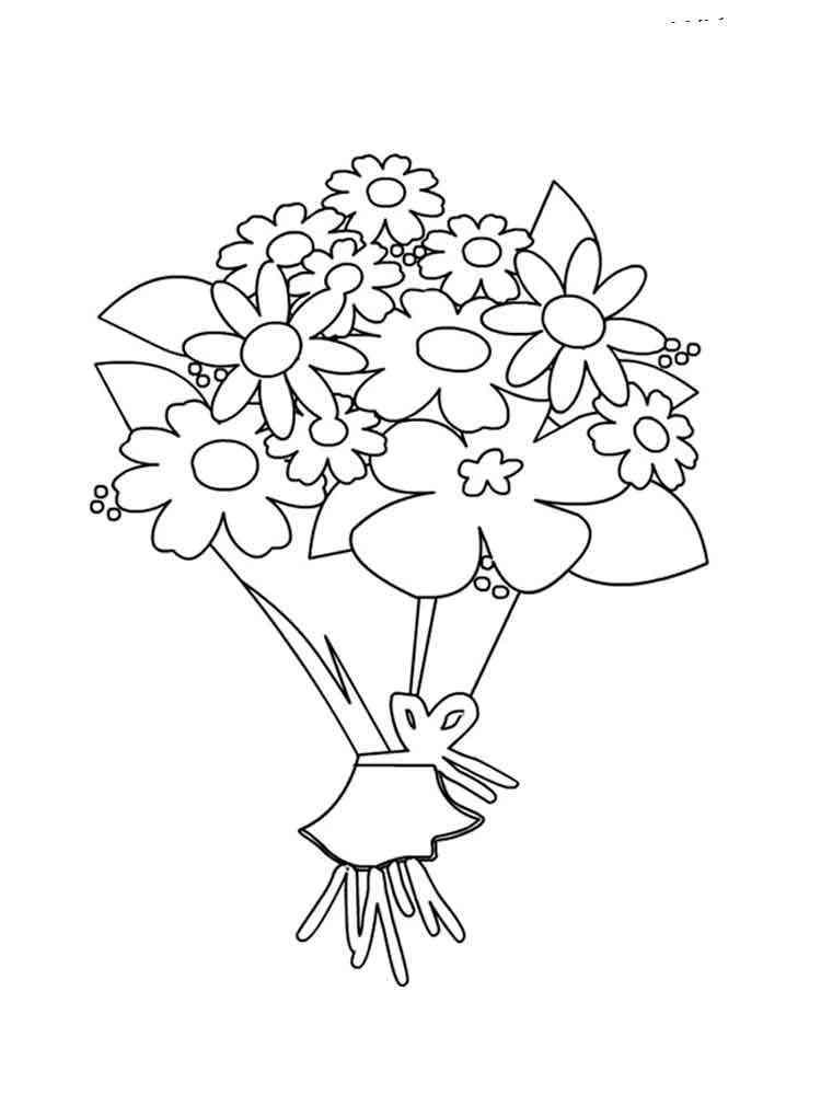 Раскраски открытки с днем рождения цветы, анимашки юбилеем лет