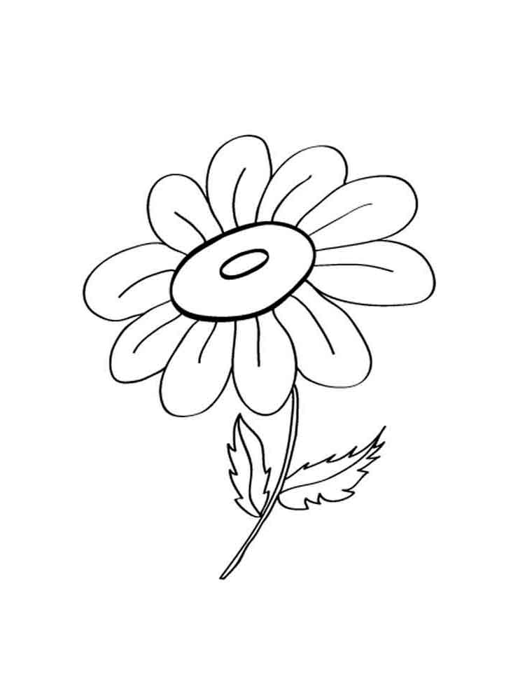 Раскраски цветы Ромашки. Скачать и распечатать раскраски ... Цветы Раскраски Ромашка