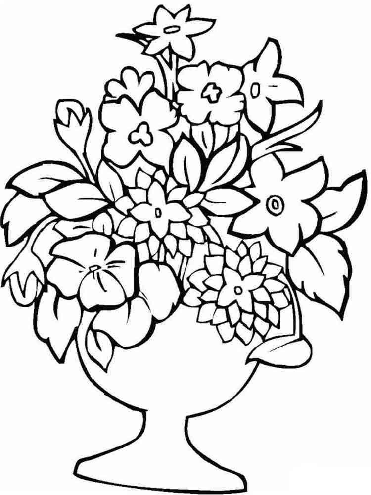Открытка в букет цветов распечатать
