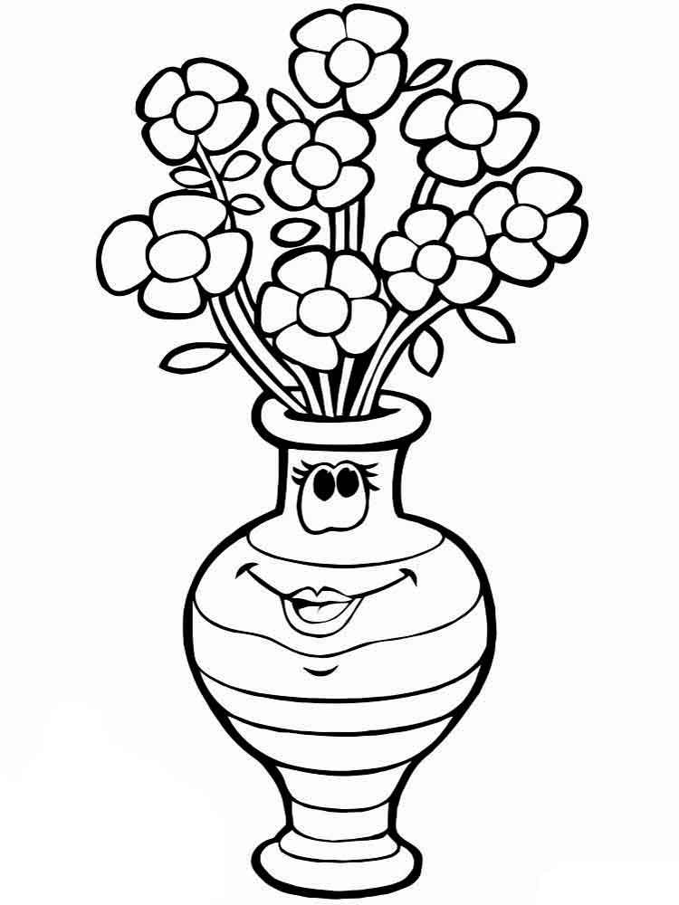 Картинки вазы с цветами нарисовать
