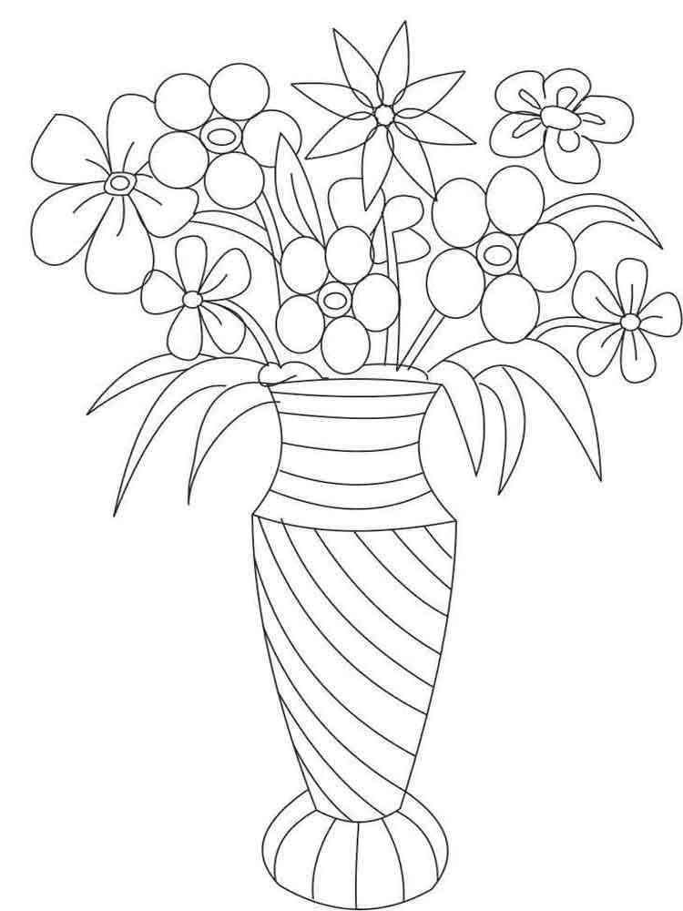 Картинки карандашом цветы в вазе, днем рождения анжелика