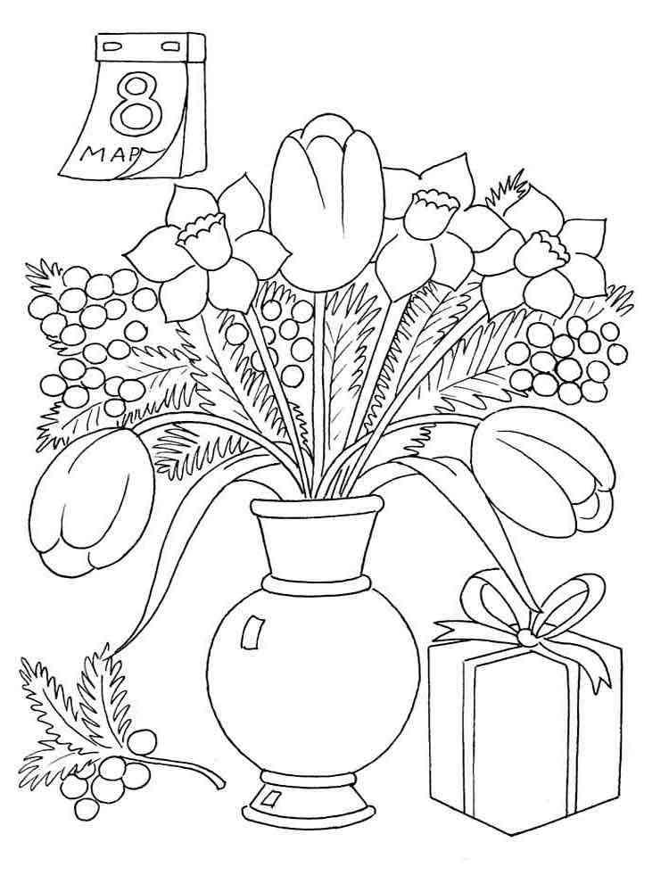 Скачать и распечатать раскраски цветы