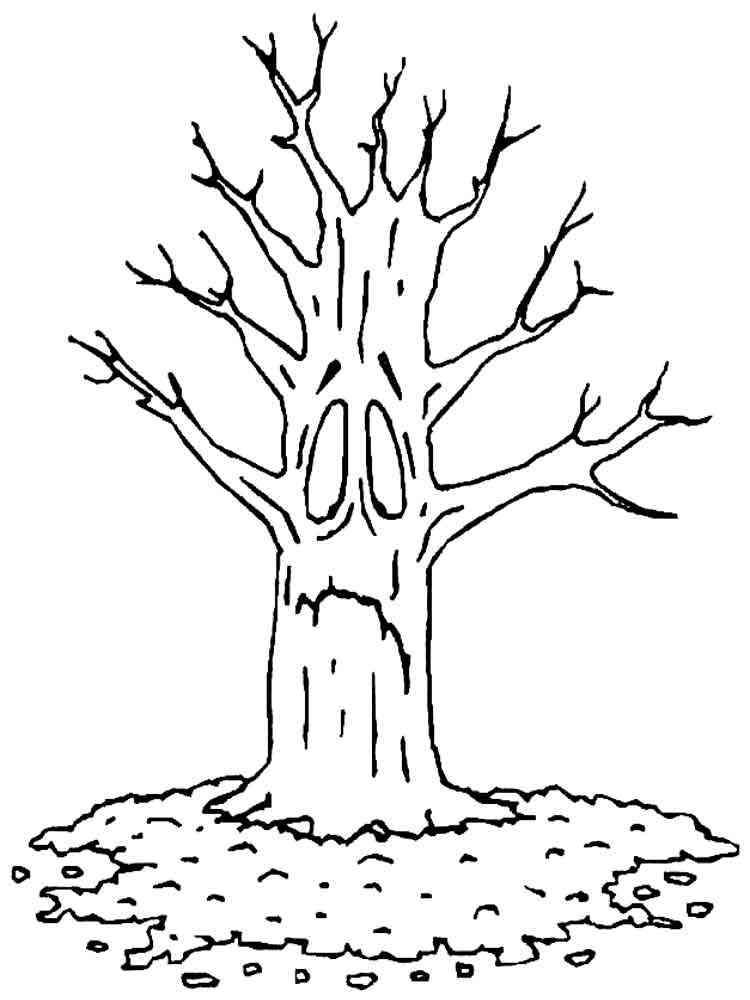 грустное дерево рисунок точки точку можно