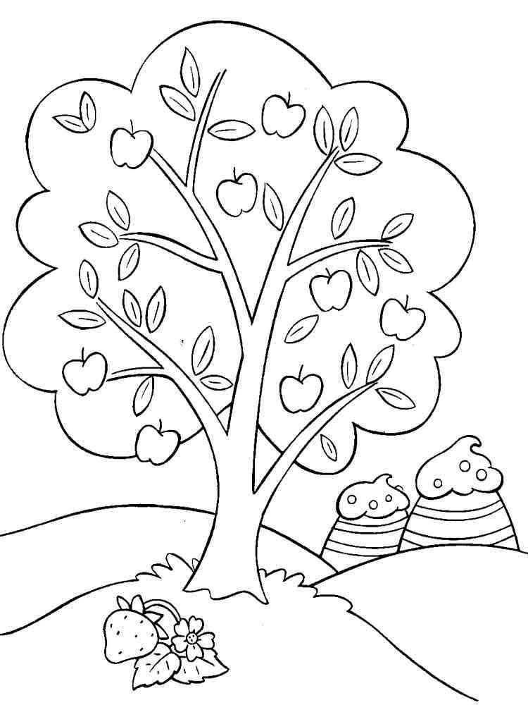 Фруктовое дерево рисунок карандашом