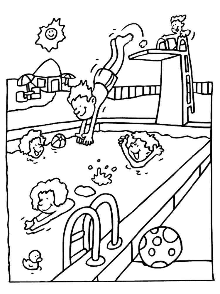 Раскраски Аквапарк - распечатать в формате А4